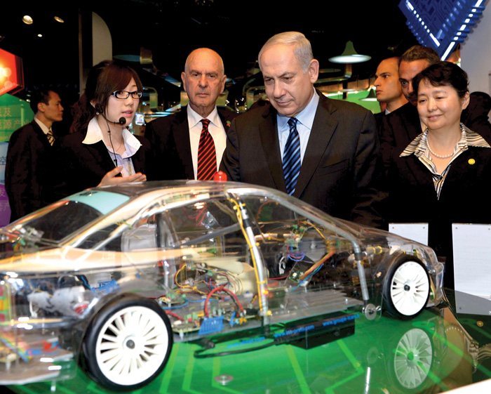 Prime Minister Benjamin Netanyahu in China, May 2013. (Photo by Avi Ohayon, courtesy of Government Press Office, Israel.)