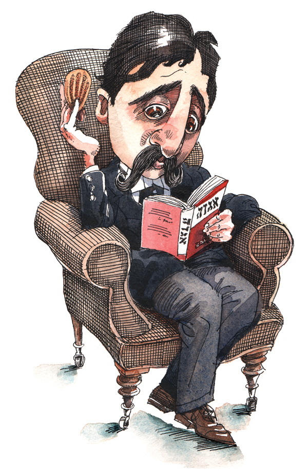 Marcel Proust. (Illustration by Mark Anderson.)