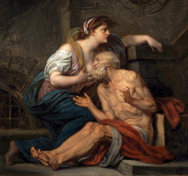 """""""Roman Charity,"""" ca. 1747, by Jean-Baptiste Greuze."""
