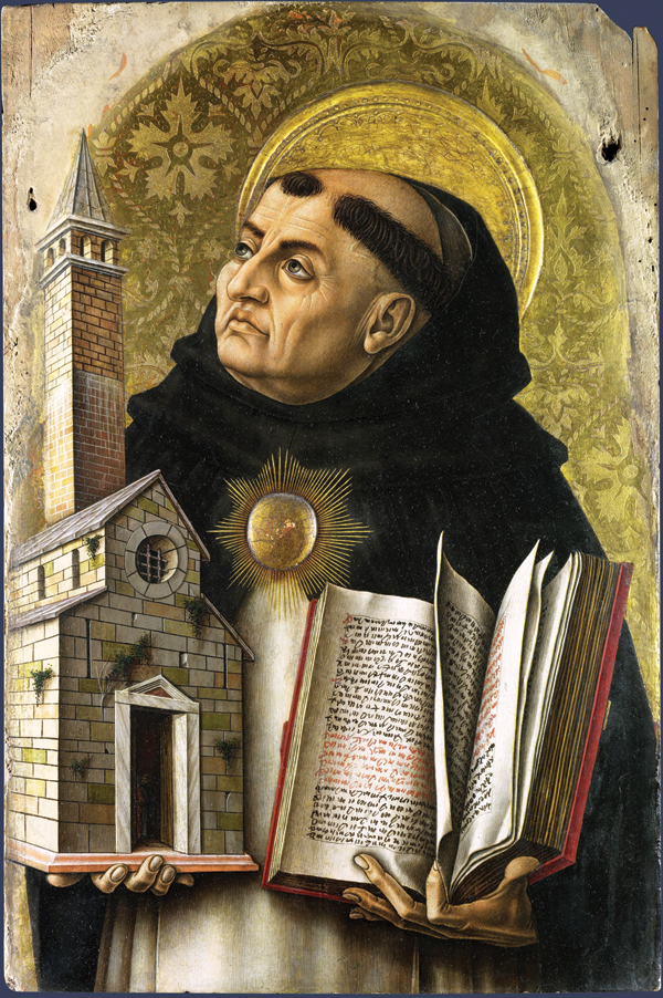 Saint Thomas Aquinas by Carlo Crivelli, 1476.